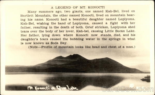 A Legend of Mt. Konocti Kelseyville California
