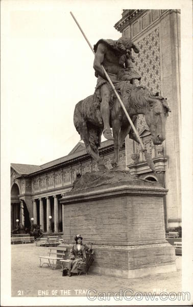 End of the Trail - Sculpture by James Earle Fraser