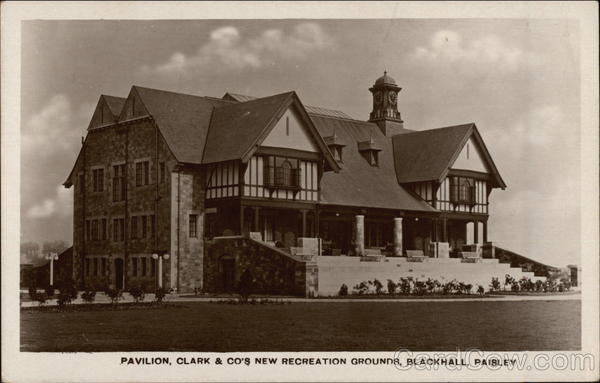 Pavilion, Clark & Co.'s New Recreation Grounds, Blackhall Paisley Scotland