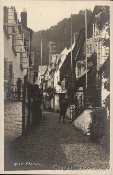 Cobbled Street and Cottages Clovelly England