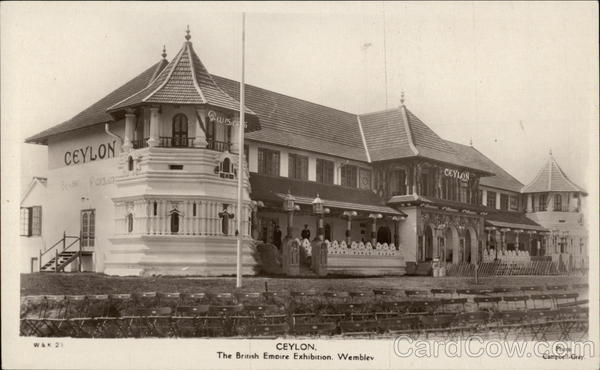 Ceylon, The British Empire Exhibition Wembley England