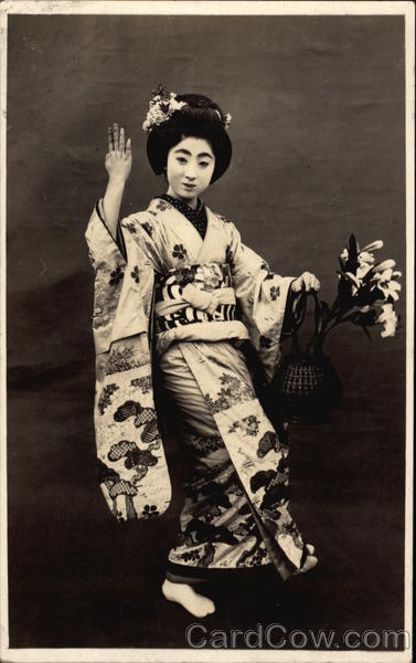Japanese Woman in Traditional Dress Asian