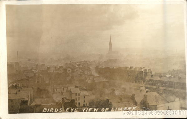 Bird's Eye View of City Limerick Ireland