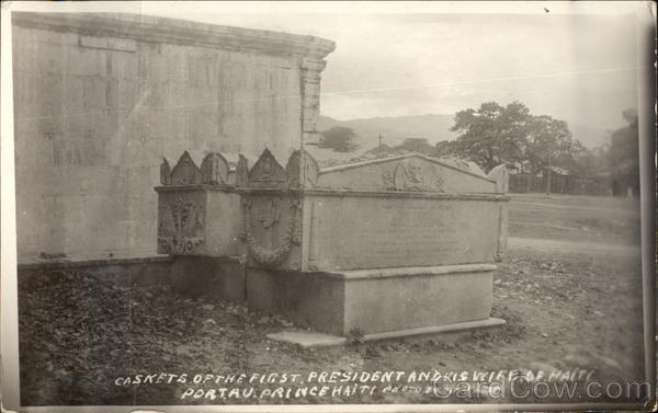 Caskets of the First President and His Wife Port-au-Prince Haiti