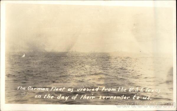 German Fleet viewed from U.S.S. Texas World War II