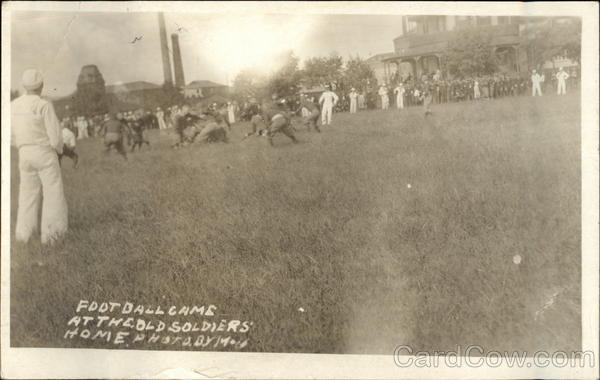 Football Game at the Old Soldiers Home Military