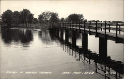 Bridge over the Water to Maple Island Postcard