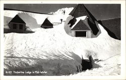 Timberline Lodge in Mid-Winter