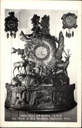 The Old Swedish Clock - The Work of Bily Brothers Postcard