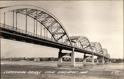 Centennial Bridge from Davenport, Iowa