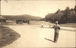 The Tennis Court at Kennebago, Come to Maine for Scenery, Fishing, Hunting, Recreation