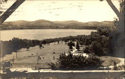 View of Park in Canton, Maine Postcard