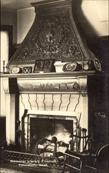 Memorial Library Fireplace