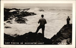 Surf Fishing on Washington Coast