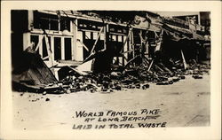California Earthquake, 6-24-25, World Famous Pike at Long Beach Laid in Total Waste