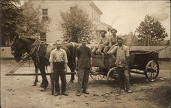 Workers with Horse Drawn Waggon