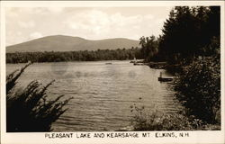 Scenic View of Mt. Kearsarge and Pleasant Lake