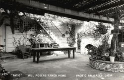 Patio at Will Rogers Ranch Home
