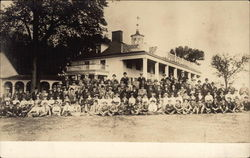 Group of People in Front of Mount Vernon