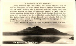 A Legend of Mt. Konocti Postcard