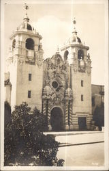 View of Entrance to Large Church - Mexico or California?