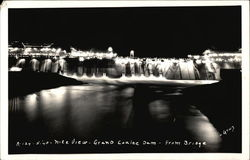 Grand Coulee Dam - Night View from Bridge