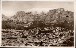 Cape Town and Table Mountain Postcard