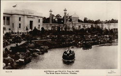 The British Empire Exhibition, Wembley - Australia and Malaya from the Lake