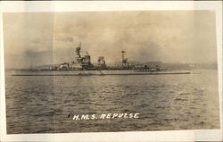 HMS Repulse on the Water