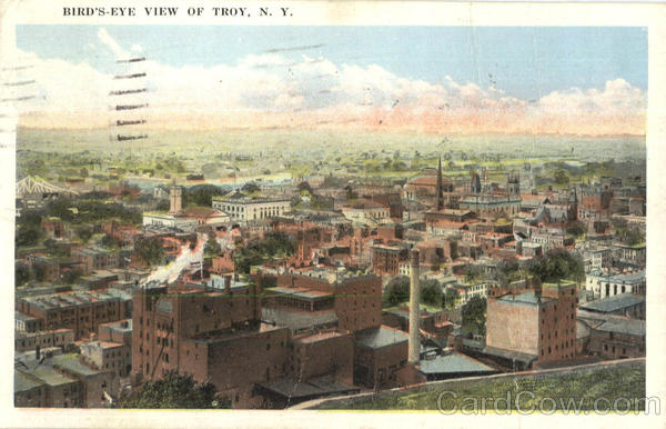 Bird's Eye View Of Troy New York