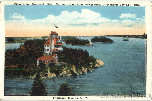 View From Hopewell Hall Thousand Islands New York