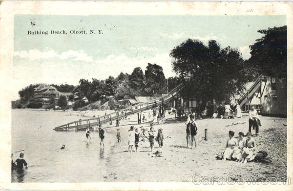 Bathing Beach Olcott New York