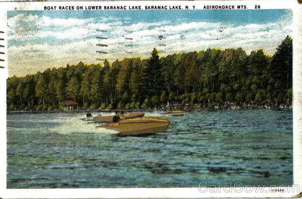 Boat Races On Lower Saranc Lake New York