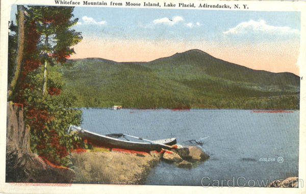 Whiteface Mountain From Moose Island Lake Placid New York
