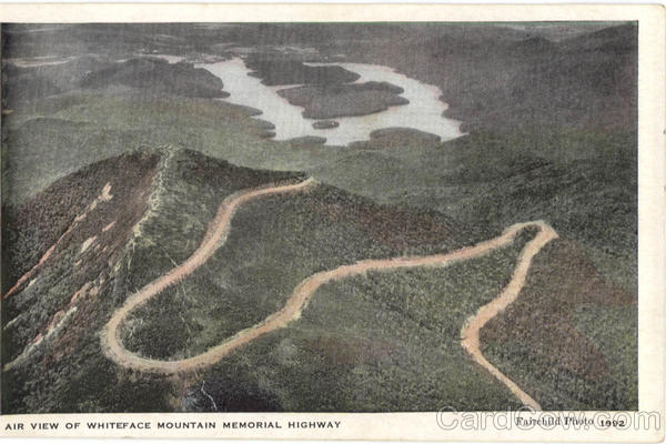 Air View Of Whiteface Mountain Memorial Highway Lake Placid New York
