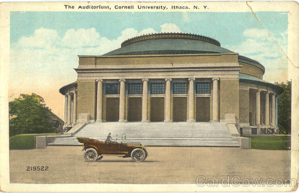 The Auditorium, Cornell University Ithaca New York