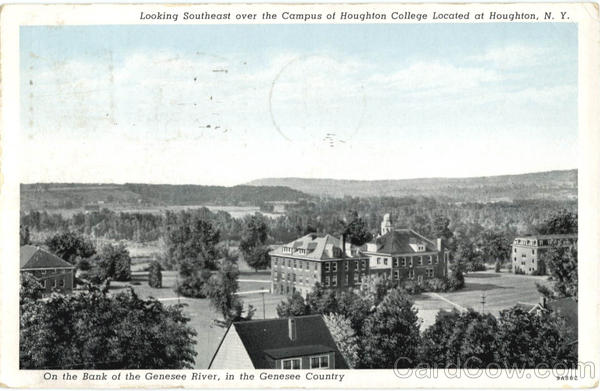 Looking Southeast Over The Campus Of Houghton College New York