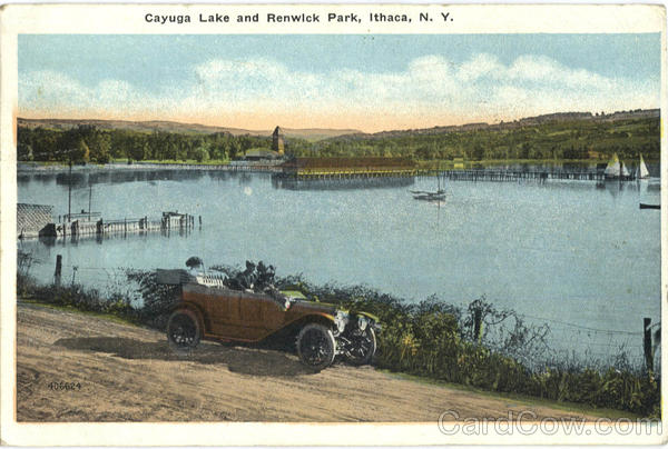 Cayuga Lake And Renwick Park Ithaca New York