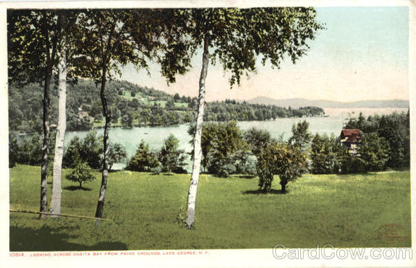 Looking Across Oneita Bay From Paine Grounds, Lake George New York