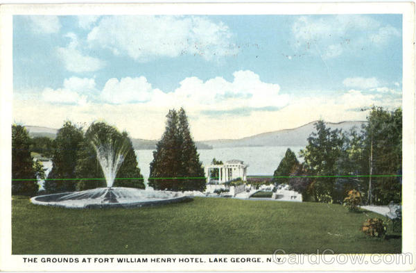 The Grounds At Fort William Henry Hotel, Lake George New York