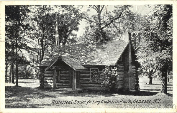 Historical Society's Log Cabin In Park Geneva New York