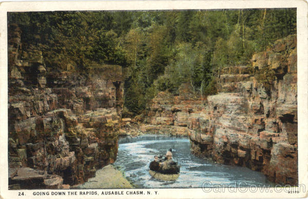 Going Down The Rapids Ausable Chasm New York