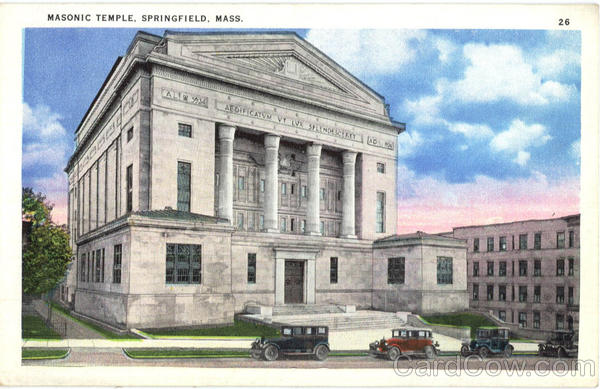 Masonic Temple Springfield Massachusetts Freemasonry