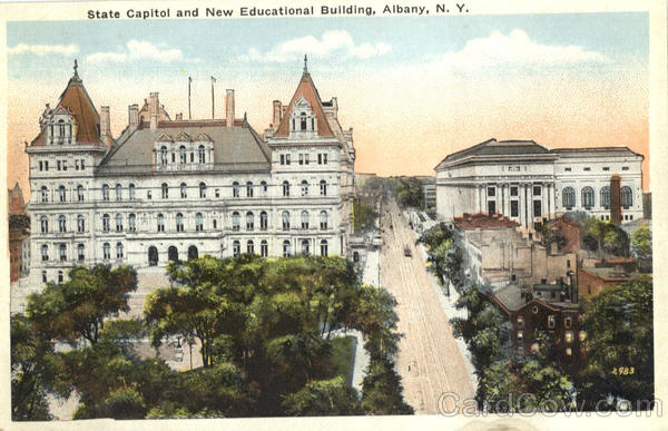 State Capitol And New Educational Building Albany New York
