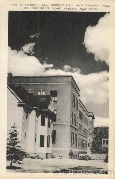 View Of Marion Hall Science Hall And Gonzaga Hall, College Of St. Rose Albany New York