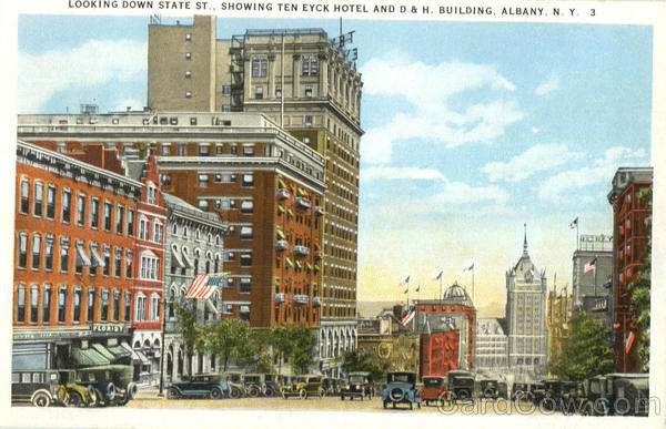 Showing Ten Eyck Hotel And D. & H. Building Albany New York