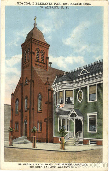 St. Casimir's Polish R. C. Church And Rectory, 324 Sheridan Ave. Albany New York