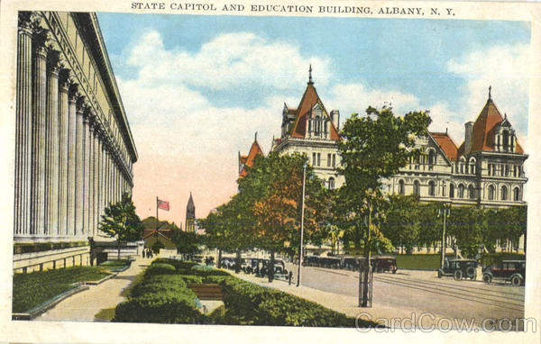 State Capitol And Educational Building Albany New York