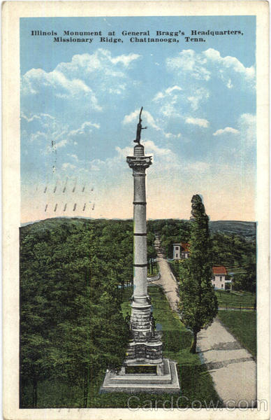 Illinois Monument At General Bragg's Headquarters, Missionary Ridge Chattanooga Tennessee