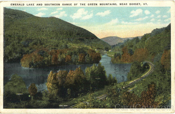 Emerald Lake And Southern Range Of The Green Mountains Dorset Vermont